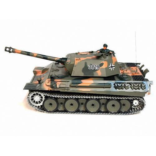 Радиоуправляемый танк Heng Long Panther 3819-1 PRO 1:16 с дымом и железными гусеницами, свет, звук (45 см)